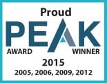 Peak Award Winner Banner 2016