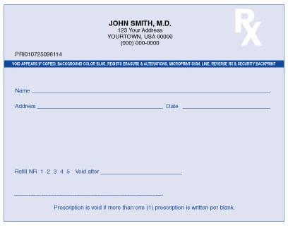 Florida Prescription Forms