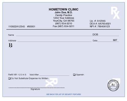 Georgia Prescriptions Forms