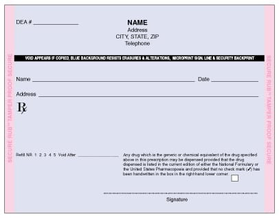 Maine Prescription Form