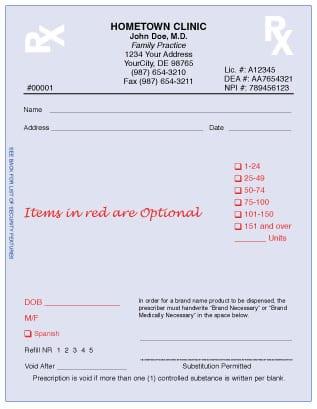 Delaware Prescription Forms
