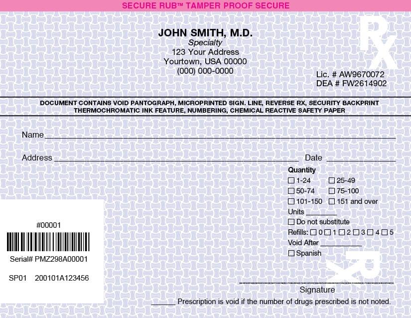 California prescription